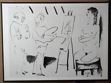 PABLO PICASSO 1954 GRAVURE w/COA. CLASSIC PRINT & UNIQUE ENGRAVING VERY RARE ART