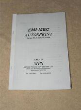 EMI-MEC Auotsprint Series'E'Manual (Worldwide Posting)