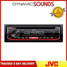 JVC KD-T402 CD Receiver Front USB/AUX Input MP3 FLAC Android Playback Tuner