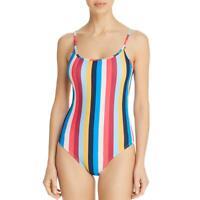 Shoshanna Womens Striped Cami Classic One-Piece Swimsuit BHFO 6074
