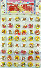 48Pcs/Lot Rilakkuma Badges 30MM Button Pin Children Patry Gifts Wholesale