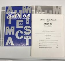 Saxon Math 65 6/5 SET (second Edition) student Textbook, Answer Key,& Test Form