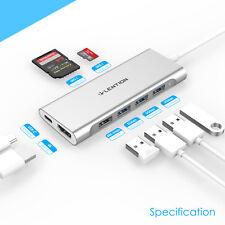 LENTION USB-C auf USB 3.0 HUB HDMI Adapter PD Laden für 2019 MacBook Pro HP Dell