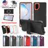 Fr Samsung Galaxy Note10 Plus Shockproof Rugged Hybrid Hard Case with Belt Clip