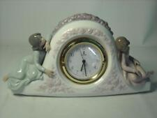 Lladro TWO SISTERS CLOCK 5776 First Quality Fully Working - 11 Photos