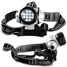 2pack 12 LED Head Lamp Adjustable Strap Multi Mode Flashlight Work Light Bright