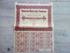 ACTION  OMNIUM MARITIME FRANCAIS 1926