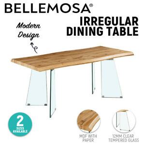 Contemporary Irregular Shape MDF/Glass Dinning Table Office Home Table