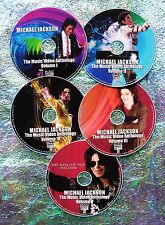 Button & FREE MICHAEL JACKSON Music Video Collection 1979-2016 5 DVD 87 Videos