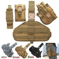 Adjustable Tactical Military Pistol Gun Drop Leg Thigh Holster Sports Pouch Bag