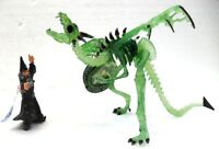 "Bullyland 75535 + Plastoy 60226 ""Mago nero contro Drago scheletro translucido"""