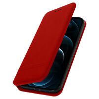 Étui iPhone 12 Pro Max Portefeuille Cuir Clapet Fermeture magnétique Rouge