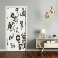 Self adhesive Door Wall wrap removable Peel & Stick Letters from the newspaper