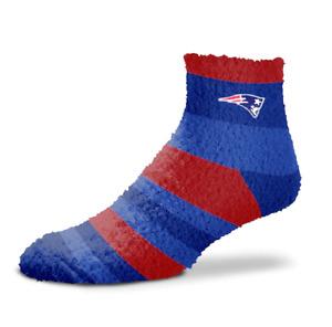 NEW! New England Patriots NFL Rainbow Stripe Soft Fuzzy Sleep Socks OSFM