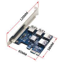 Riser Card PCI-E USB3.0 Port Multiplier express PCIe 1 to 4 PCI-E for BTC Miner