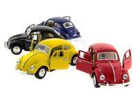 "4 PC Set New 5"" Kinsmart 1967 Volkswagen Classical Beetle Diecast Toy Car 1:32"