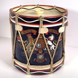 Vintage Regimental Replicas England Royal Marines drum Ice Bucket Retro Bar