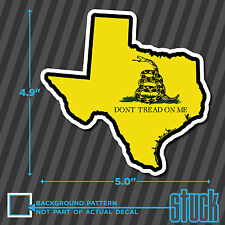 """Texas State Don't Tread On Me - 4"""" x 4.9"""" - printed vinyl decal sticker TX"""