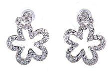 Swarovski Elements Crystal Star Heart Pierced Earrings Rhodium Plated New 7114x