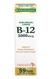 Nature's Bounty B-12 5000 mcg Sublingual Liquid Energy Health