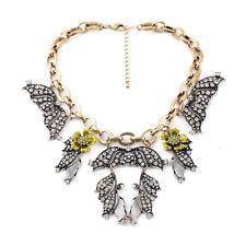 2015 NEW ARRIVAL VINTAGE FLORAL COMPONENT RORSCHACH STAEMENT BLOOM NECKLACE