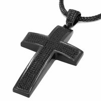Details about  /Chunky Gold Crystal Rap Jesus Hands Cross Pendant Franco Chain Necklace Hip Hop