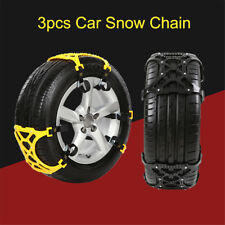 3 x Black Anti-skid Car Snow Tyre Tire Chains Beef Tendon Vehicles Wheel Chain