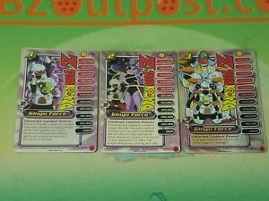 DRAGON BALL Z DBZ Capsule Corp Power Pack Ginyu Force 1-3 foil promo personality