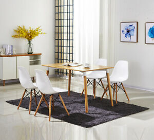 2x Dining Lounge Cafe Kitchen Retro Replica Chairs with Solid Wood Legs