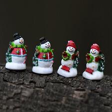 4x Miniature Christmas Snowman Fairy Micro Garden Landscape Craft House Decor FT
