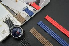 20/22mm Leather Magnetic Watch Band Strap wist for Samsung Galaxy Watch 42/46mm