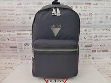 GUESS Backpack 6124 CROWN Grey Nylon Rucksack Logo Spacious Shoulder Bag BNWT
