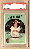1959 Topps #445 Cal McLish PSA 7 NM Cleveland Indians