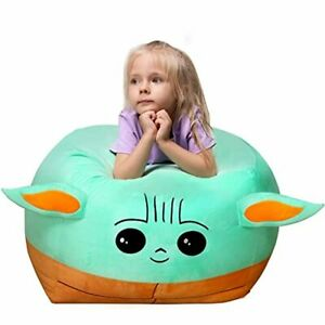 Stuffed Animal Toys Storage Kids Bean Bag Chair Cover Large Size 24 x 24 Inch