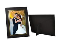Pack of 25, Cardboard Photo Easel Frame for 4x6 Photo, Black