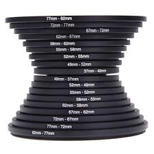 18pcs Step Up Down Lens Filter Ring Adapter Set 37 - 82mm For Canon Nikon AUS