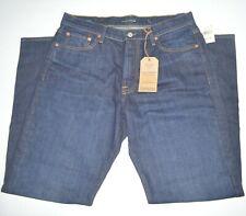 NWT LUCKY BRAND 181 Ralaxed Straight Dark Wash Stretch Cotton Jeans Sz 34 x 32