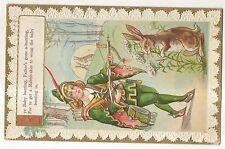 Bye Baby Bunting,  Archer with Bunny Rabbit, Nursery Rhyme, Vintage Postcard