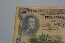 1925 100 PESETAS PHILIP II SIN SERIE SELLO EN SECO REPUBLICA BANKNOTE SPAIN