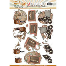 YVONNE CREATIONS VINTAGE OBJECTS MUSIC 3D PUSH OUTS DECOUPAGE