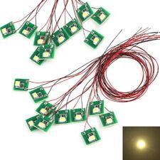 LED Hausbeleuchtung Beleuchtung warmweiß mit Kabel 12-19V Häuser 20 Stück S206