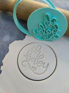 Oh Baby Cookie Fondant Stamp Embosser and Cutter – Baby Shower