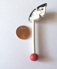 Steckenpferd Pferd Holz Spielzeug Puppenstube Puppenhaus Miniatur 1:12 6,5cm