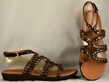 Women's FitFlop Strata Gladiator Brown Leather Sandals US 11 UK 9 EUR 43