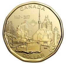 2017 CANADA 150TH BIRTHDAY CONNECTING A NATION LOONIE $1 COIN UNCIRCULATED