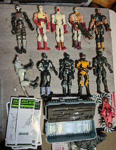 Gi Joe Sigma 6 Cobra 10 Figure Lot With Accessories, Storm Shadow, Snake Eyes