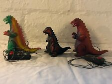 LOT Vintage 1980?s Radio Shack Wired remote control Godzilla dinosaurs preowned