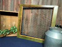 Upcycled Farmhouse Wood single pane Window Chicken wire Rustic Primitive Green