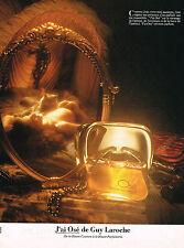 PUBLICITE ADVERTISING 025  1979  J'AI OSE  parfum femme GUY LAROCHE