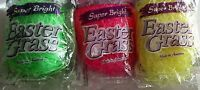 EASTER GRASS Cushion SUPER BRIGHT ASSORTED COLORS  1.5 oz Bag [Your Choice]